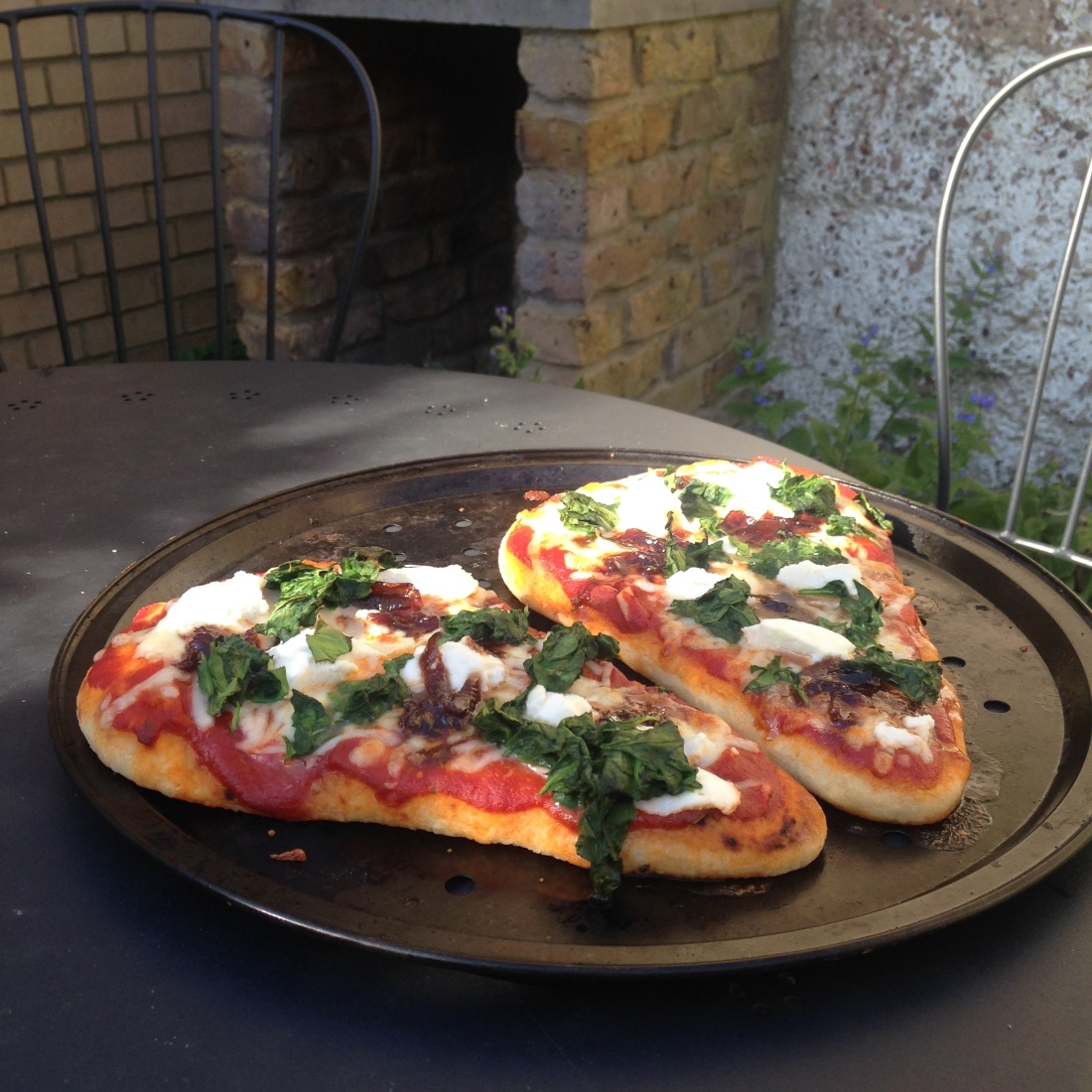 Rosemary, Ricotta, Spinach & Sweet Onion Pizzas